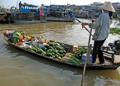 Mekong river, Floating market