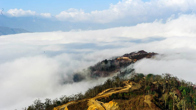 the cloudy-land of Y Ti in Lao Cai Province