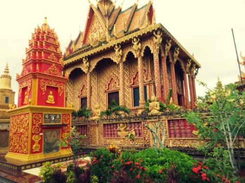 The beauty of Khmer Temple Monivongsa Bopharam in Ca Mau Province