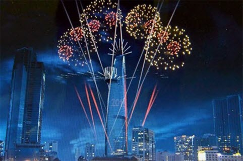 Hanoi and Ho Chi Minh City will hold firework party to Happy New Year