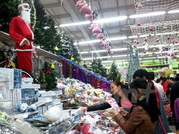 Christmas Fair held in Thong Nhat Park in 2014