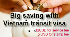 Big saving with transit visa